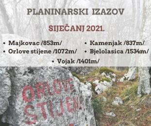 Planinarski izazov - siječanj 2021