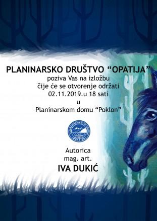 Otvorenje izložbe Ive Dukić 2.11.2019.